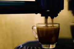 Making single shot espresso Royalty Free Stock Photo