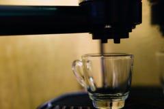 Making single shot espresso Royalty Free Stock Photography