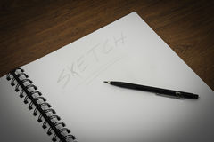 Making a sketch Royalty Free Stock Photo