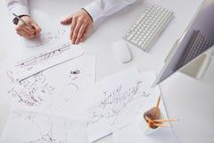 making sketches Стоковое Изображение