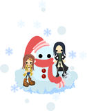 Making a snowman together Royalty Free Stock Photography