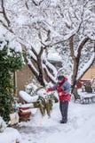 Making snowman Stock Photos