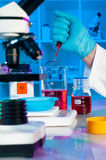 Making solution for scientific assay Stock Photos
