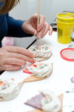 Making of souvenirs. Stock Image