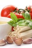 Making spaghetti Stock Photos