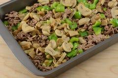 Making Spahetti casserole Stock Image