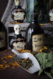 Making spells, hexes and potions Royalty Free Stock Image