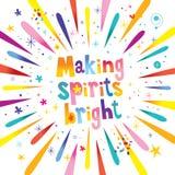 Making spirits bright. Holiday design Stock Photo