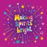 Making spirits bright. Christmas holiday design Royalty Free Stock Images