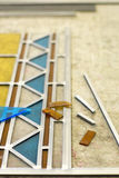 Making stained glass Stock Images