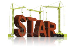 Making a star be famous celebrity reach fame Royalty Free Stock Image
