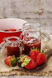 Making strawberry jam Royalty Free Stock Image