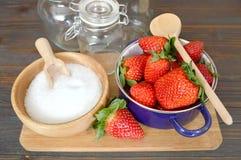 Making strawberry jam Stock Photography