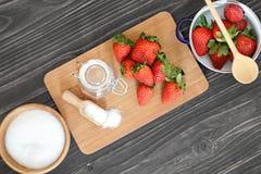 Making strawberry jam Stock Photo