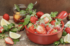 Making strawberry jam. Royalty Free Stock Photography