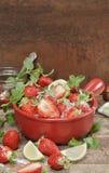 Making strawberry jam. Stock Photography