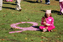 Making Strides Against Breast Cancer Stock Photos