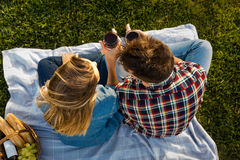 Making a summer picnic Royalty Free Stock Image