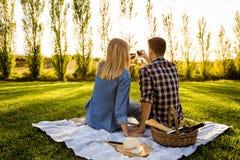 Making a summer picnic Stock Photo