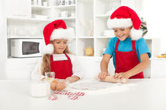 Making surprise christmas cookies Stock Photos