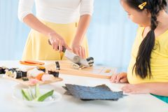 Making sushi Stock Photography