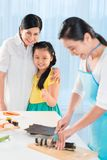 Making sushi at home Royalty Free Stock Images