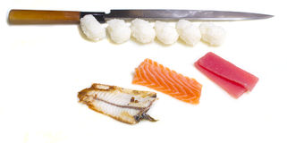 Making sushi nigiri Royalty Free Stock Image
