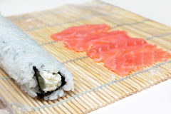 Making sushi roll Stock Image