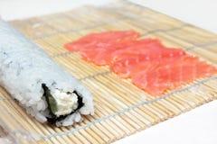 Making sushi roll Stock Image