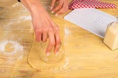 Making sweet bagels Royalty Free Stock Photo