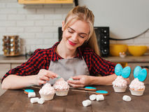 Making sweet dessert masterclass. Cooking at home. Royalty Free Stock Image