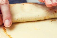Making sweet pancake Stock Photo