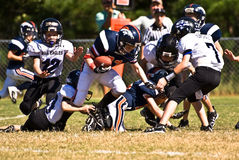 Making the Tackle Little League Stock Photos