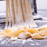 Making tagliatelle Royalty Free Stock Images