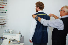Making Tailored Suit in Old Atelier Shop Stock Photo