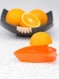 Making tasty orange juice Stock Photography