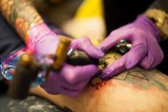 Making tattoo. Detail Stock Photo