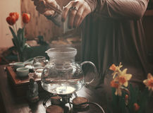 Making tea ceremony Royalty Free Stock Photography