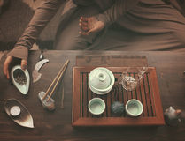 Making tea ceremony Royalty Free Stock Image
