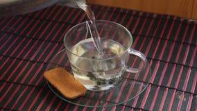 Making tea stock video footage