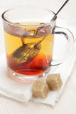Making tea with tea infuser Royalty Free Stock Photography