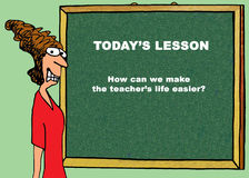 Making the Teacher`s Life Easier Stock Photography