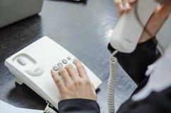 Making telephone call Royalty Free Stock Image