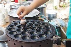 Making Thai sweetmeat Royalty Free Stock Photos