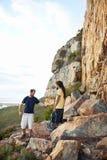 Making their rock climbing activities safe Stock Photography