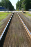 Making Tracks. Train tracks with a Photoshop zoom blur Royalty Free Stock Photography