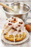 Making traditional easter cake Royalty Free Stock Image