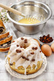 Making traditional easter cake Stock Photography