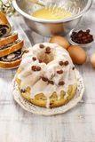 Making traditional easter cake Stock Photos