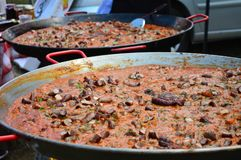 Making traditional goulash at a festival Royalty Free Stock Images